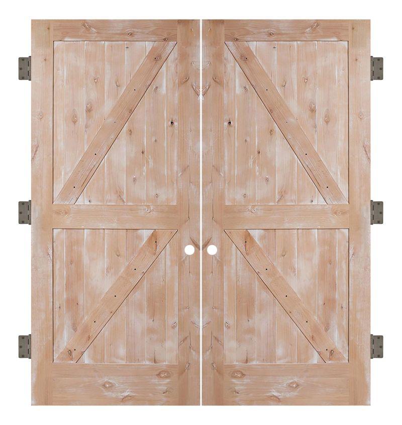 Dutch Z Interior Double Slab Door