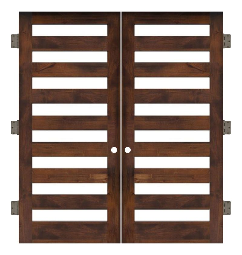 Highland Interior Double Slab Door