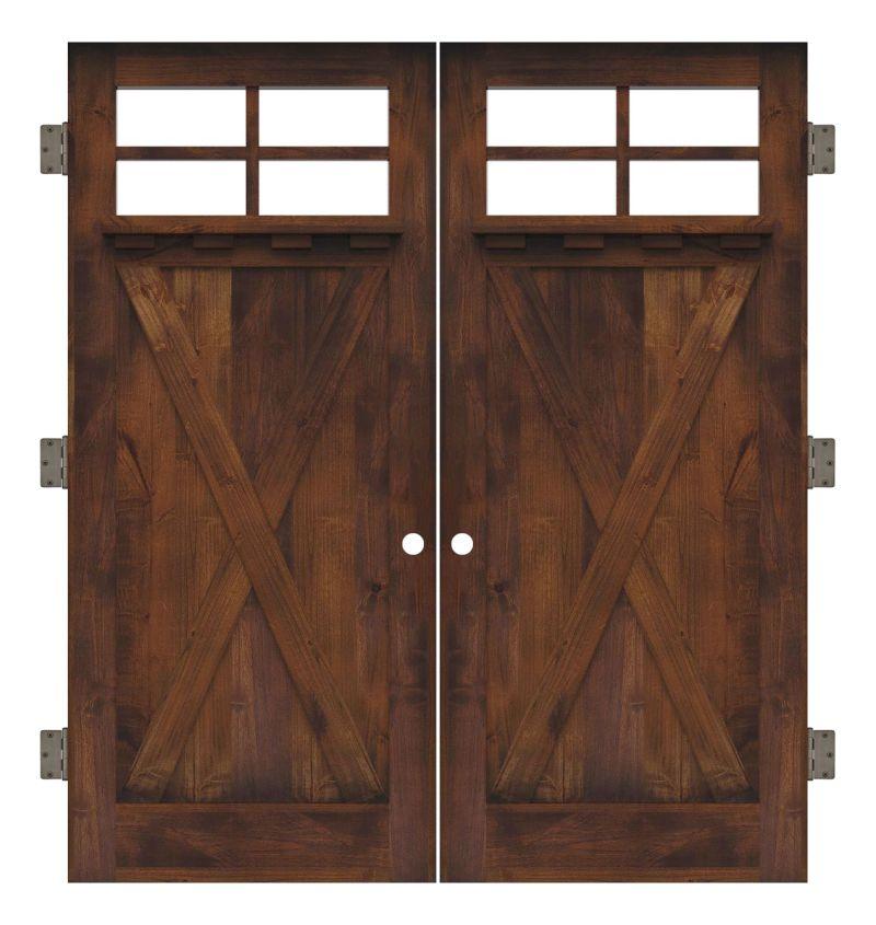 Hobble Creek Interior Double Slab Door