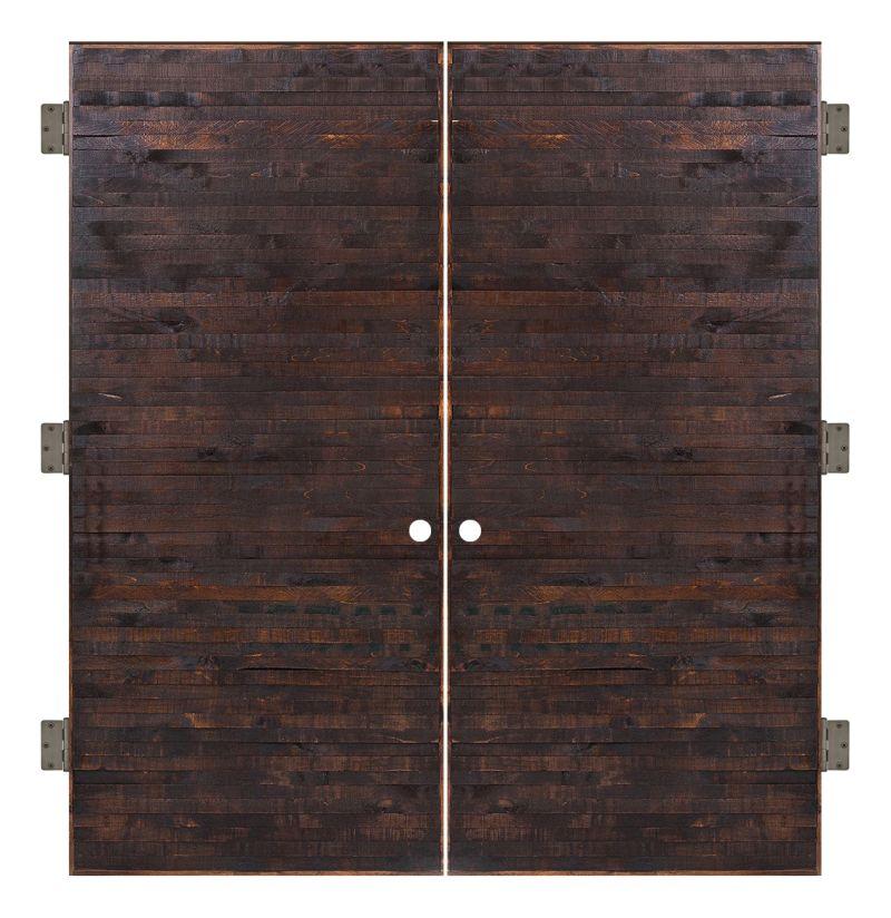 Horizontal Rip Top Interior Double Slab Door