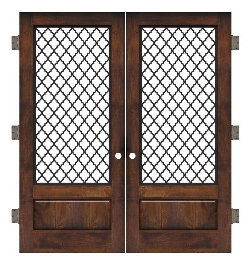 Hudson Floral Interior Double Slab Door
