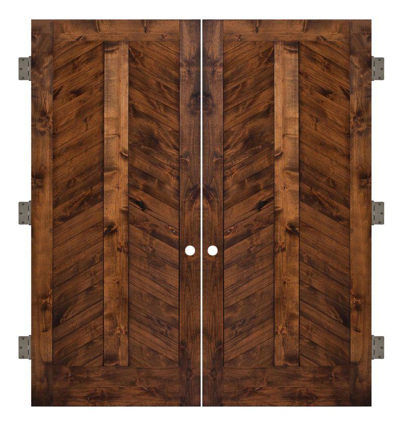 Heartland Chevron Interior Double Slab Door