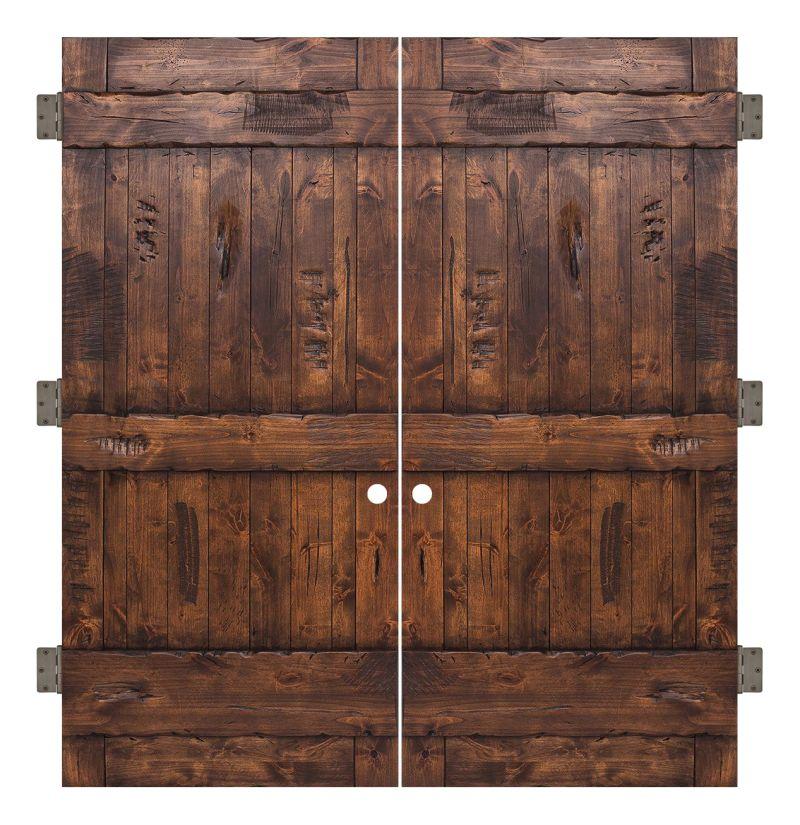 Ranch Interior Double Slab Door