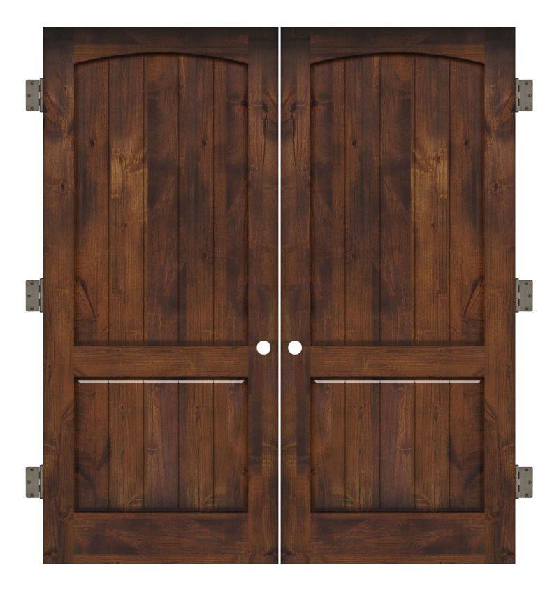 Pump House Interior Double Slab Door
