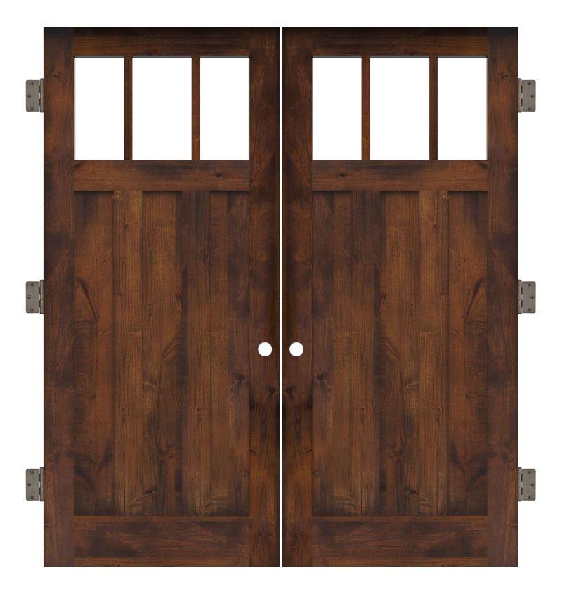 Overland Interior Double Slab Door