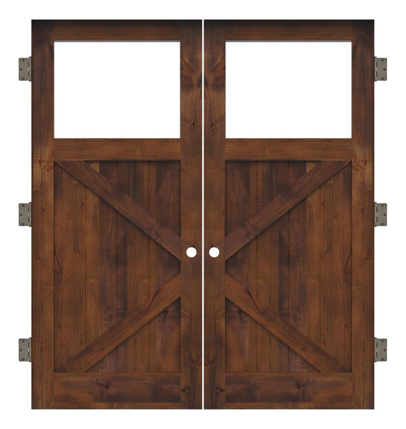 Shoemaker Interior Double Slab Door