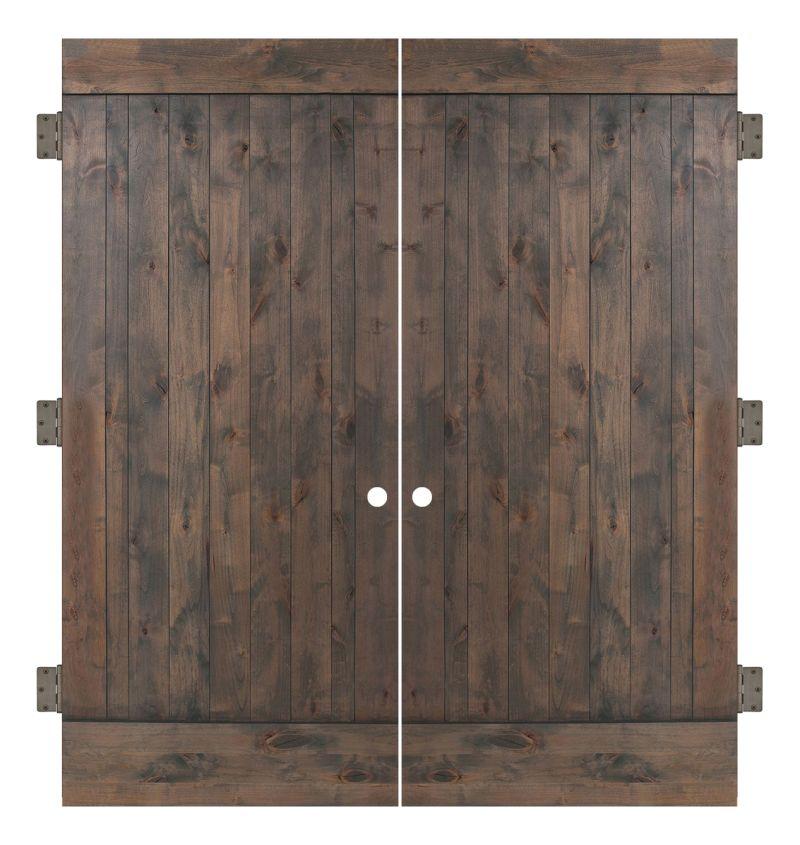 True Interior Double Slab Door