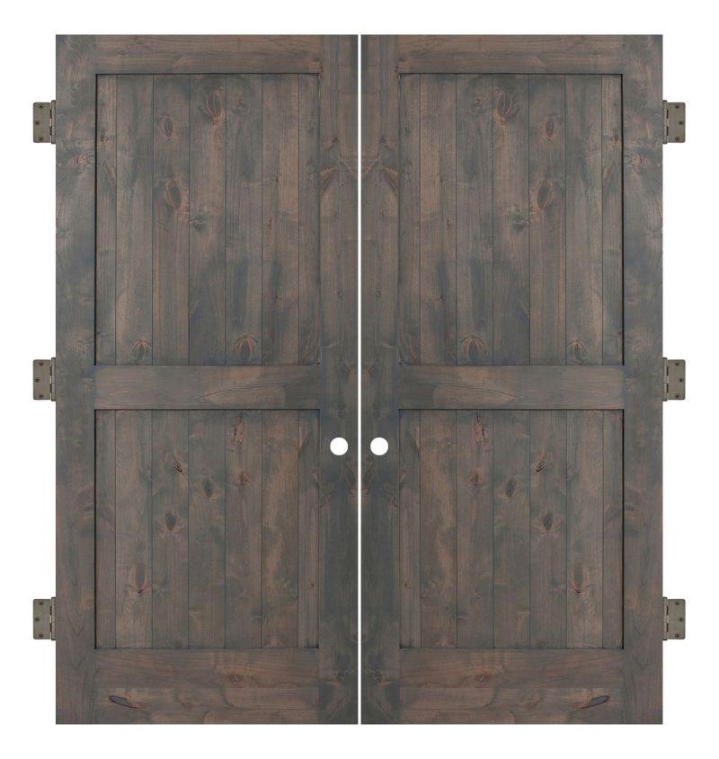 Two Panel Interior Double Slab Door