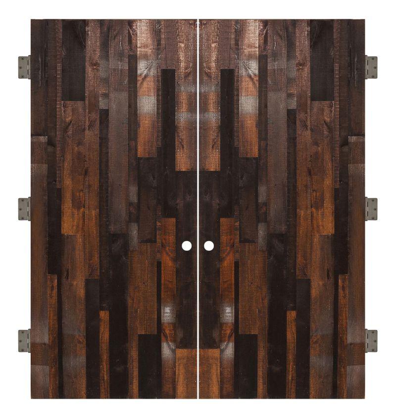 Vertical Rustica Reclaimed Interior Double Slab Door