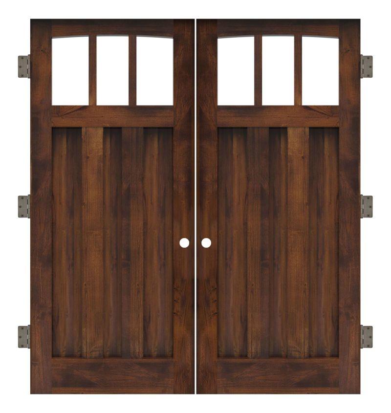 Woodsman Interior Double Slab Door