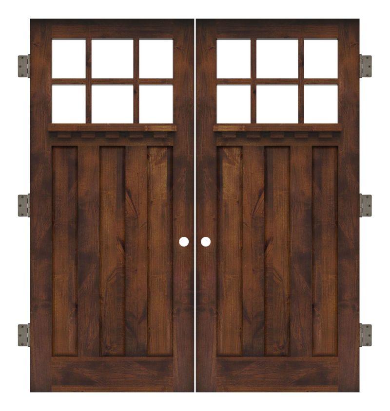 Rocky Point Interior Double Slab Door