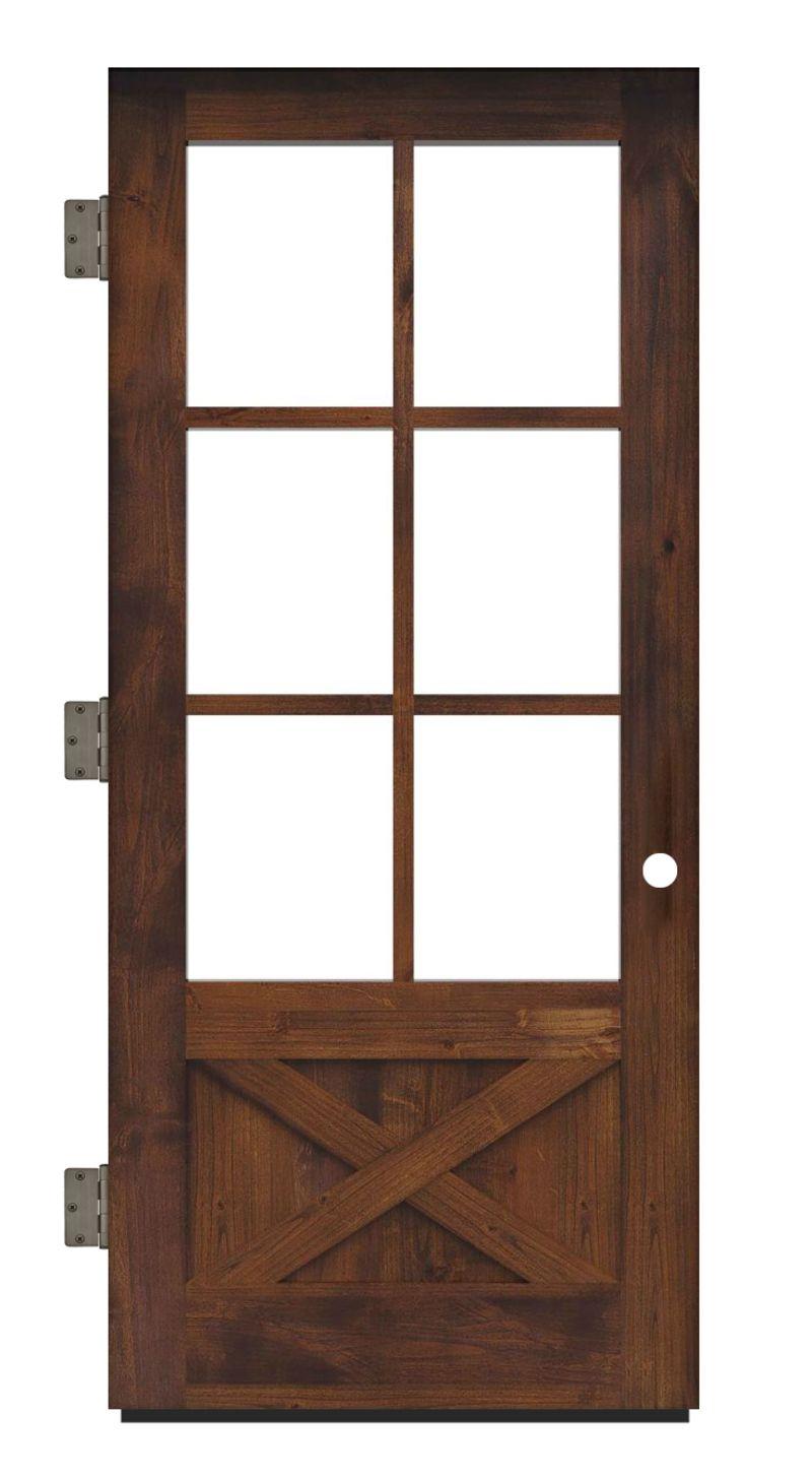 Cross Saw Exterior Slab Door
