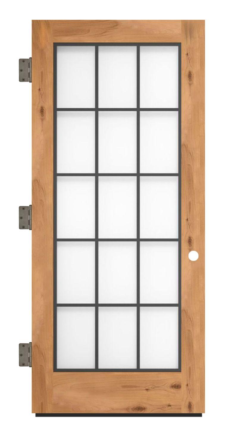 Farmhouse French Full Exterior Slab Door