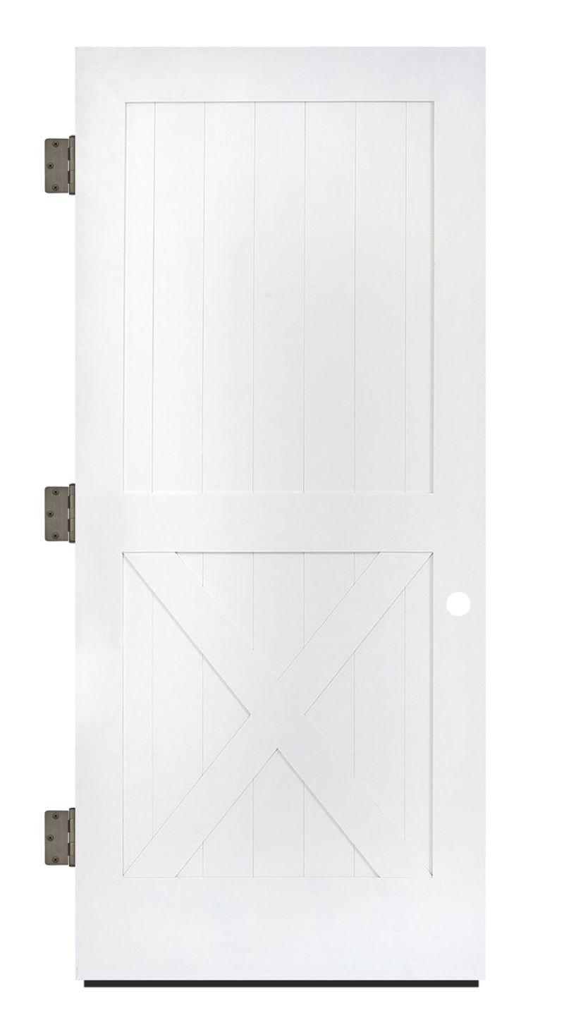 Half X Exterior Slab Door