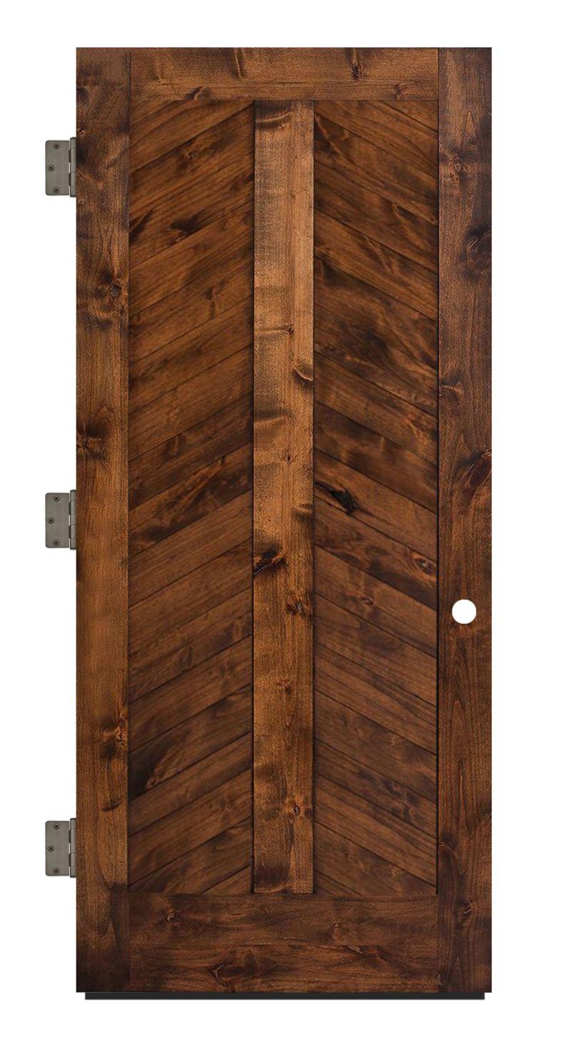 Heartland Chevron Exterior Slab Door