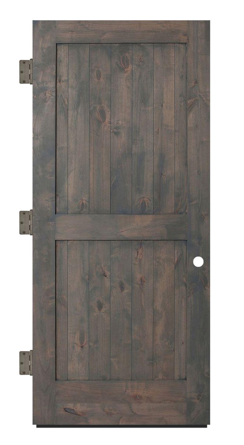 Two Panel Exterior Slab Door
