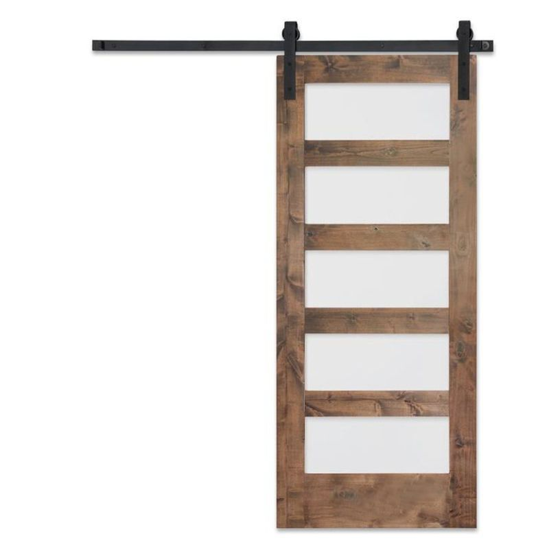 5-Panel Glass Barn Door