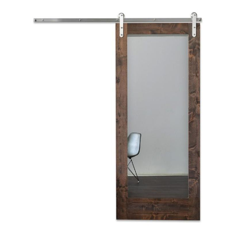 Modern Mirror Barn Door