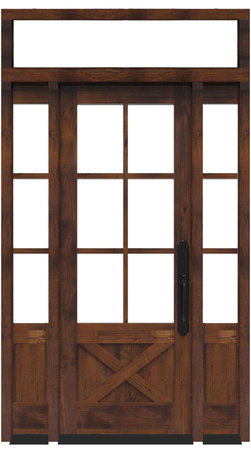 Cross Saw With Sidelights And Transom Window