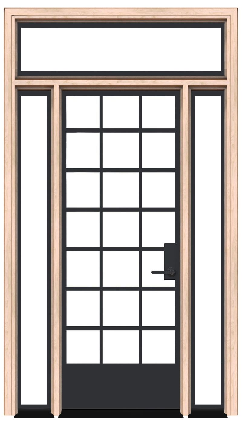 Cropland Exterior With Sidelights And Transom Window