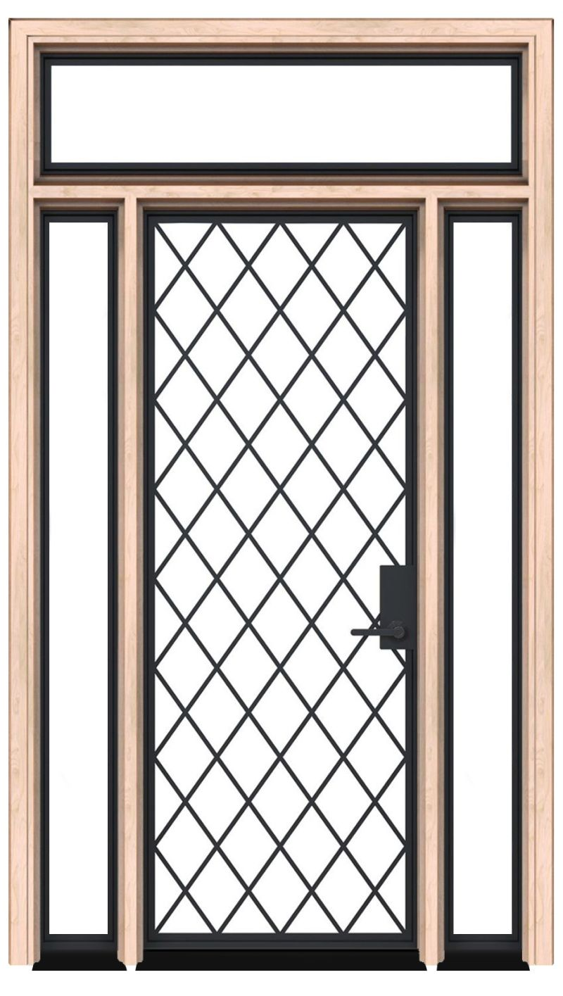 Chateaux Exterior With Sidelights And Transom Window