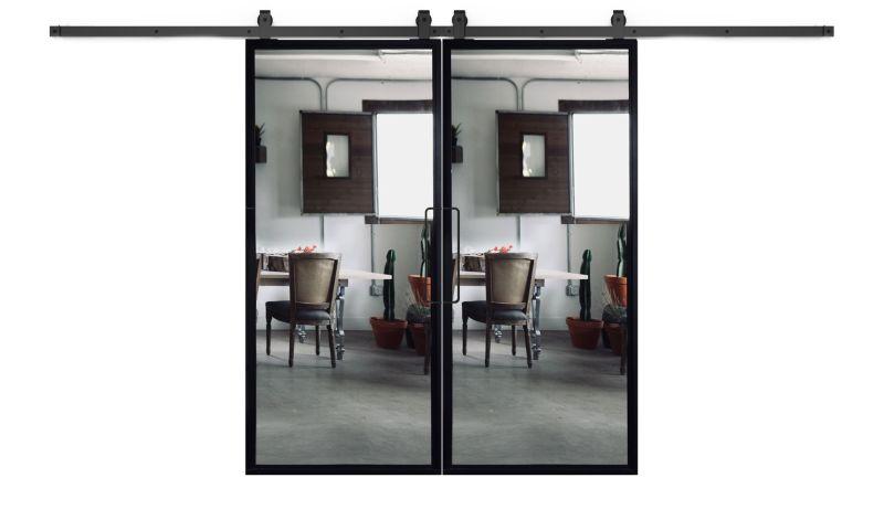 Ponder Mirror Double Barn Door