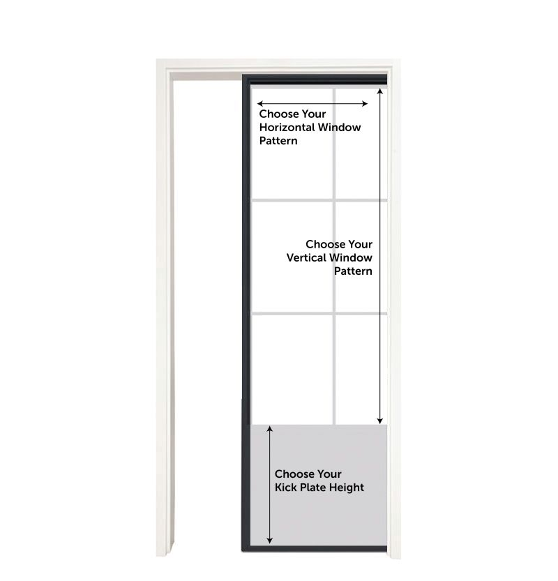 Customizable Metal Pocket Door