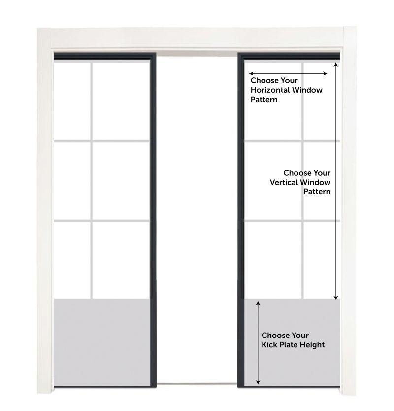 Customizable Metal Converging Pocket Doors
