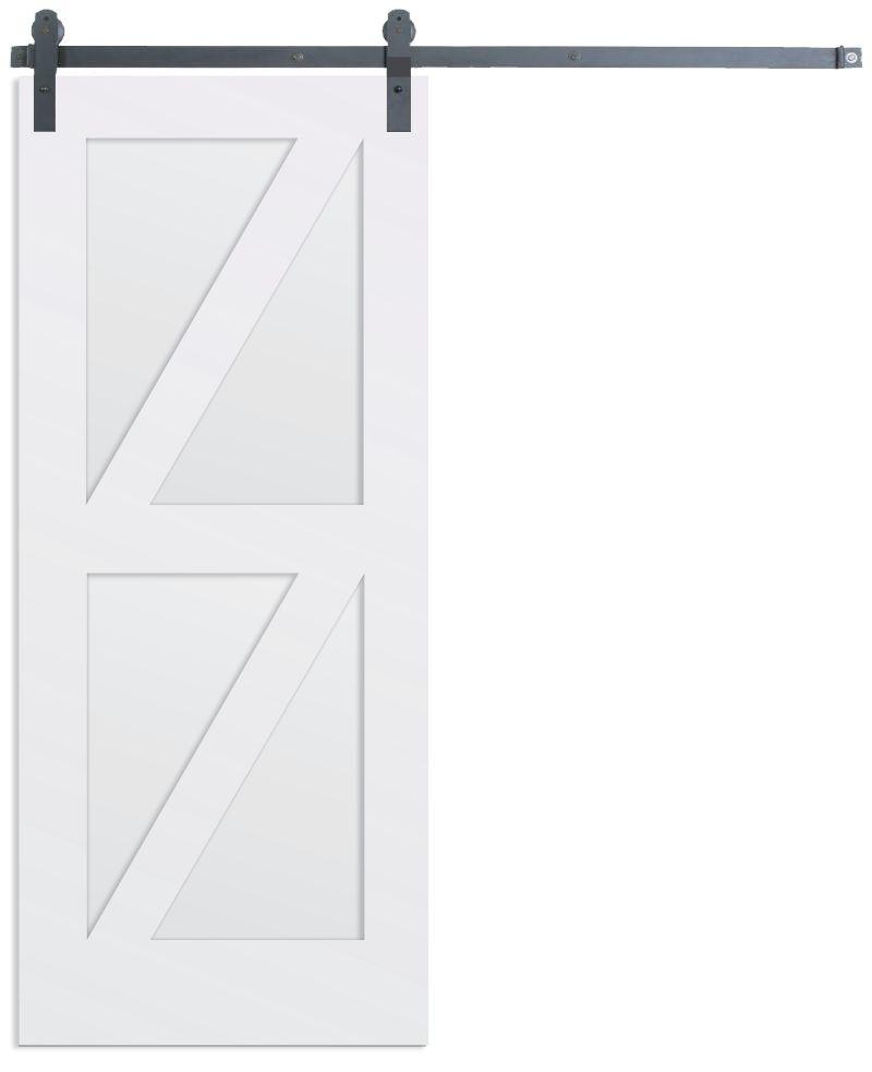 Contemporary Double Z Barn Door