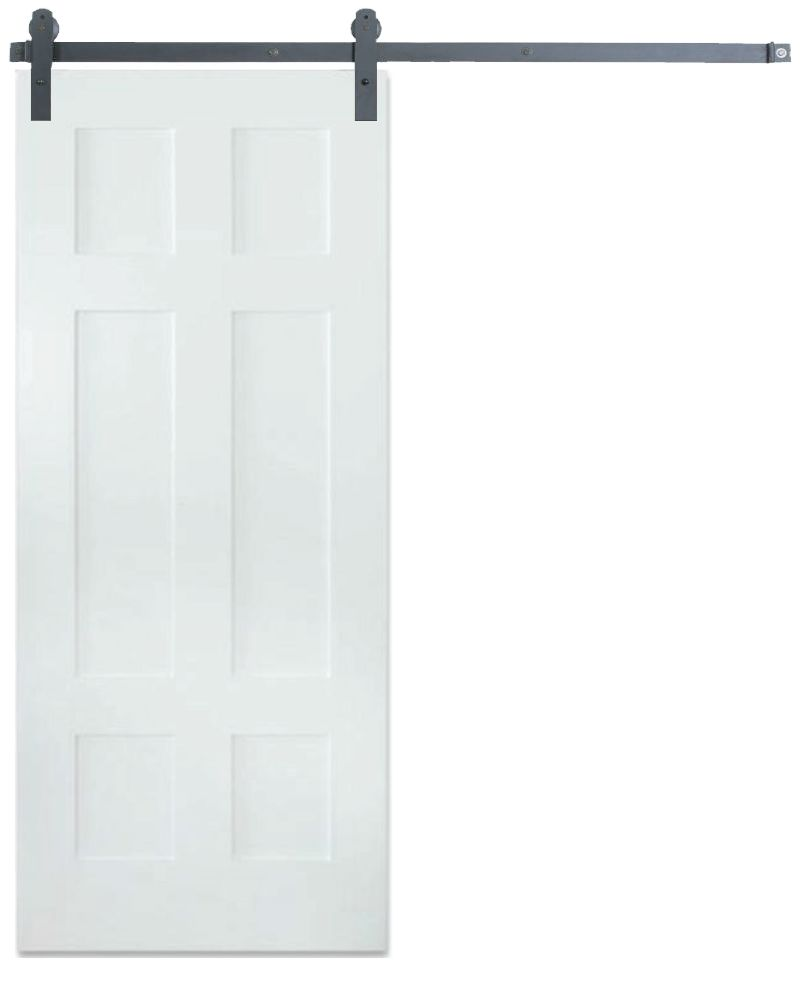 Contemporary Classic 6 Panel Barn Door
