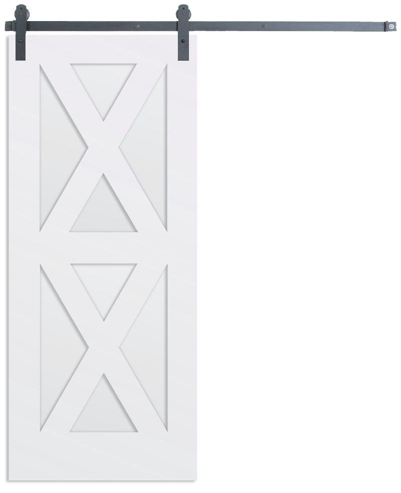 Contemporary Double X Barn Door