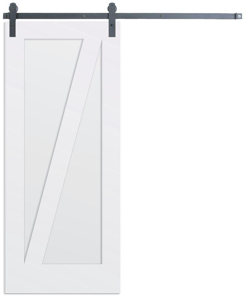 Contemporary Z Barn Door
