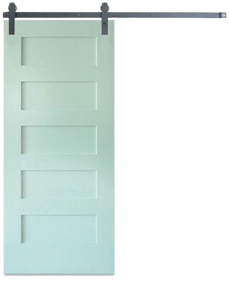 Contemporary 5 Panel Barn Door