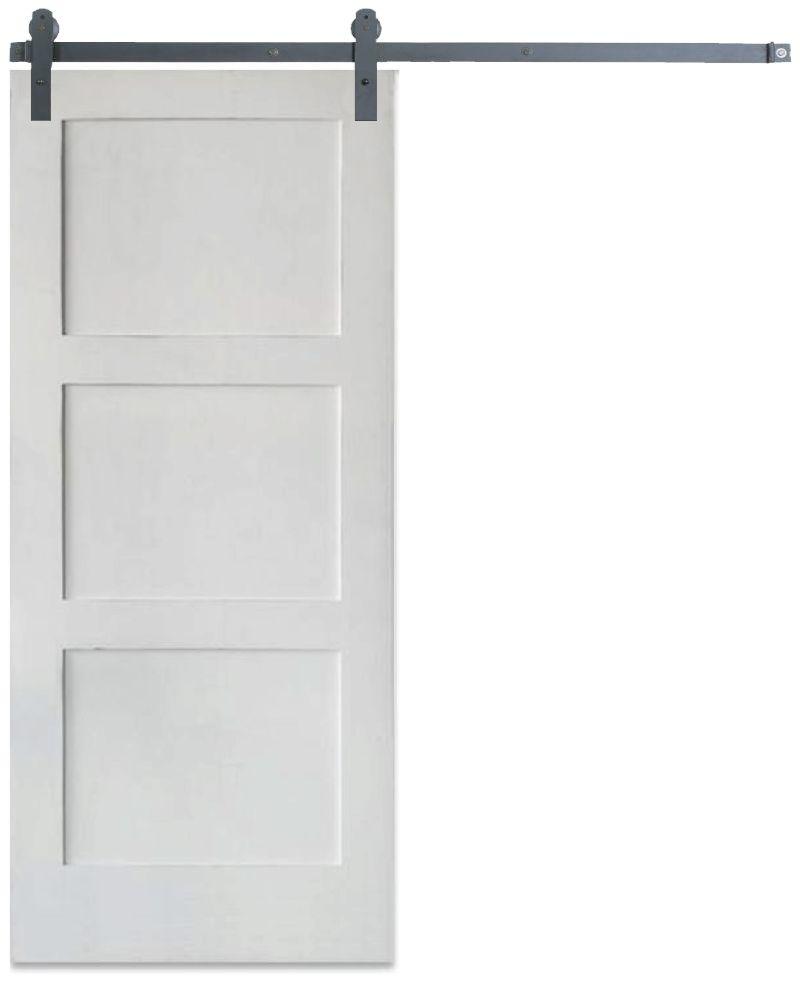 Contemporary 3 Panel Barn Door