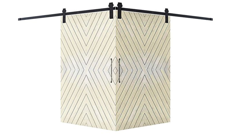 Fraction Corner Barn Door