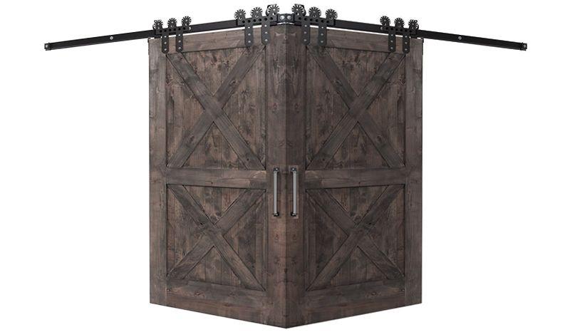 Double X Corner Barn Door