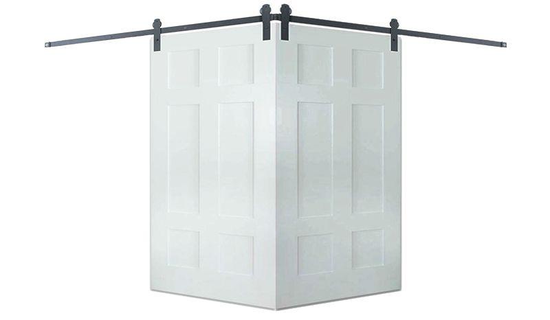 Contemporary Classic 6 Panel Corner Barn Door