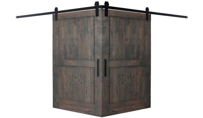 2 Panel Corner Barn Door