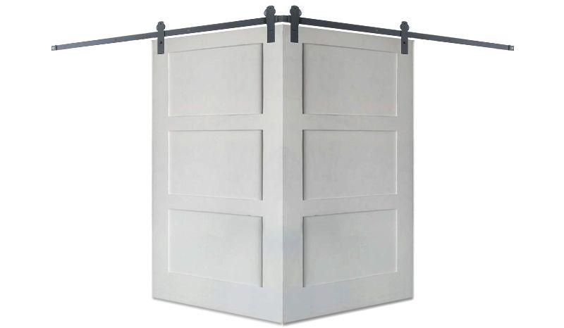 Contemporary 3 Panel Corner Barn Door