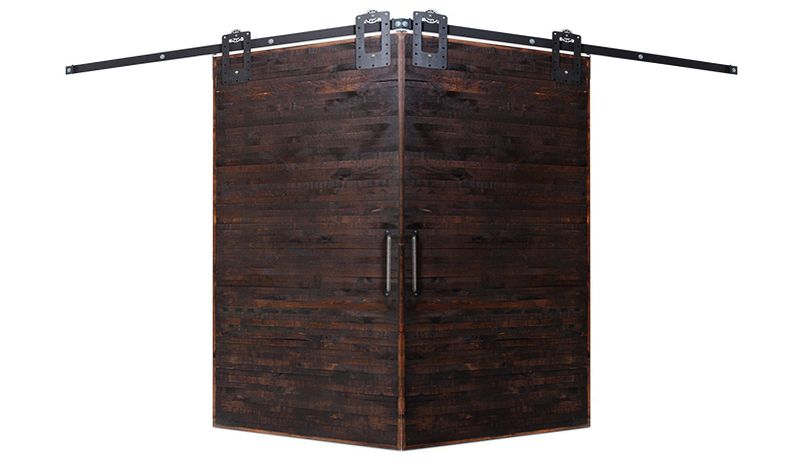 Horizontal Rip Top Corner Barn Door