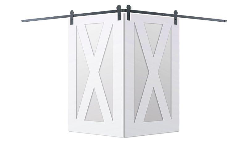 Contemporary X Corner Barn Door