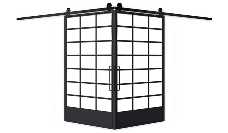 Grand Hall Corner Barn Door