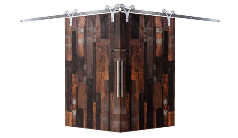 Vertical Rustica Reclaimed Corner Barn Door