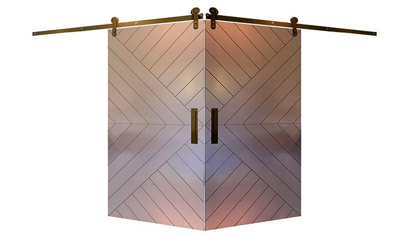 Sunrise Corner Barn Door