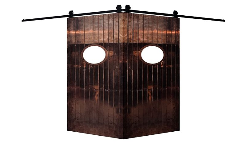 Penny Rail Corner Barn Door