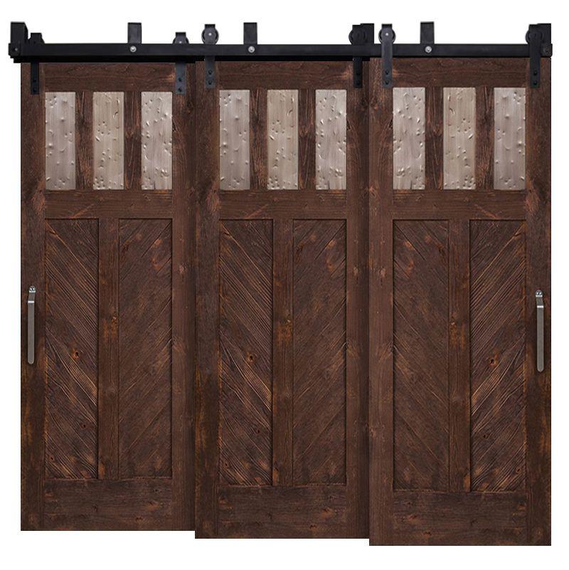 Chevron Triple Bypass Barn Doors