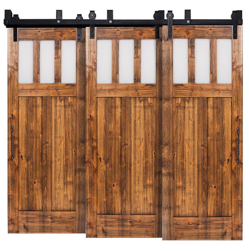 Craftsman Triple Bypass Barn Doors