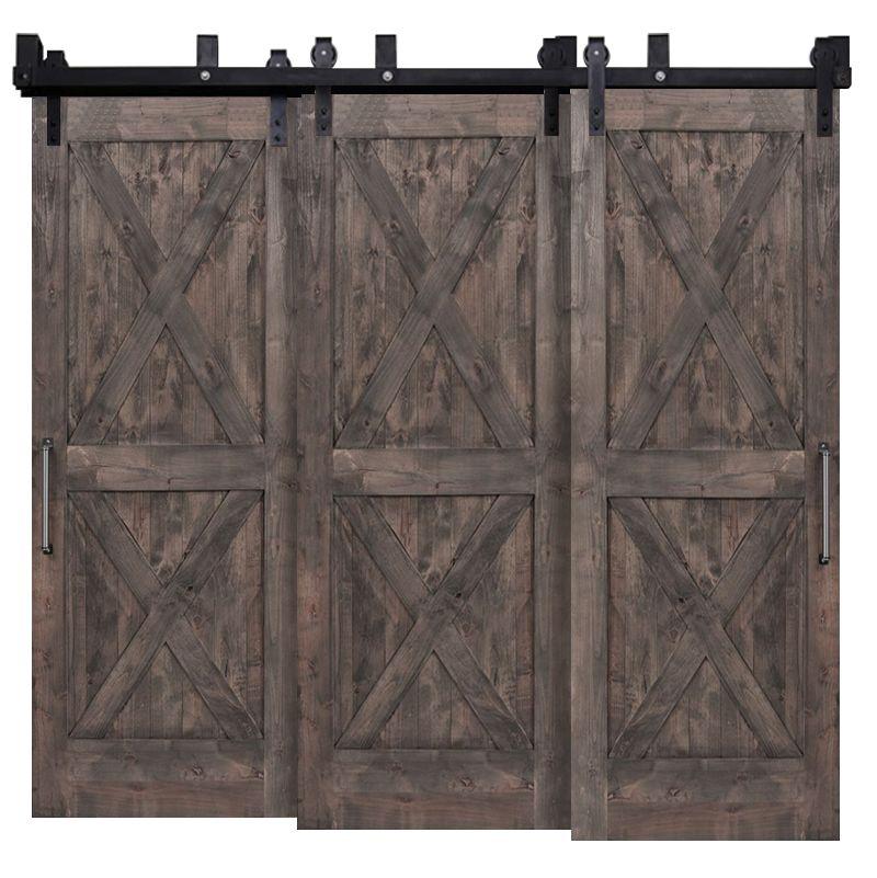 Double X Triple Bypass Barn Doors