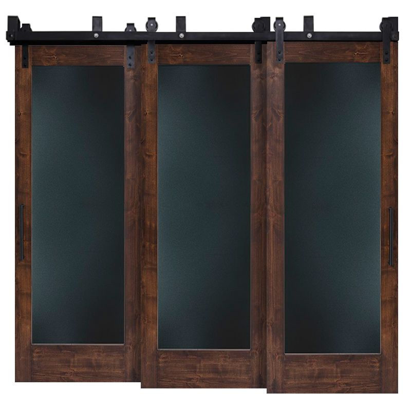 Smooth Operator Metal Panel Triple Bypass Barn Doors
