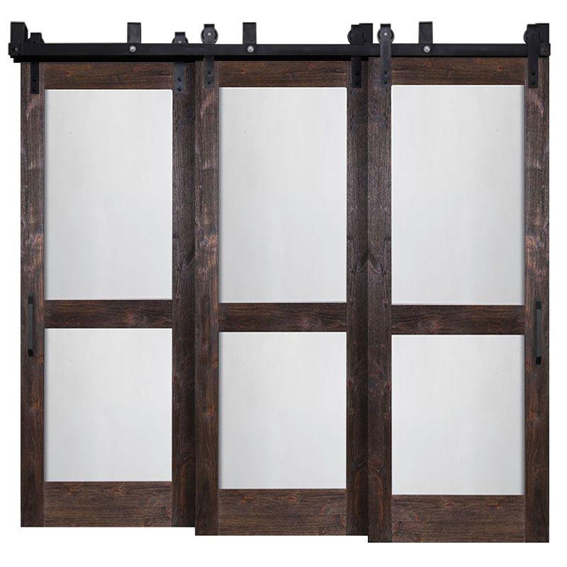 Split Whiteboard Triple Bypass Barn Doors